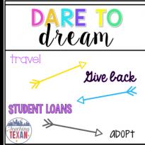 TPT Seller Challenge Week 2:  Dare to Dream…