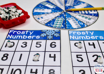 Winter Math Games for Kindergarten