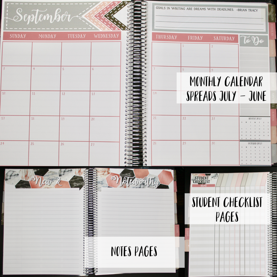 2017 2018 Custom Teacher Planner