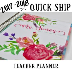 Quick Ship Teacher Planner