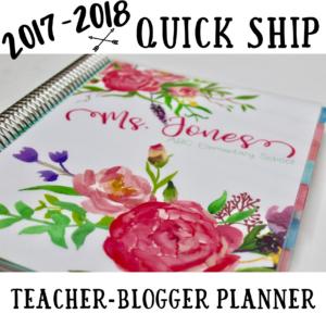 Quick Ship Teacher-Blogger Planner