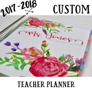 Custom Teacher Planner