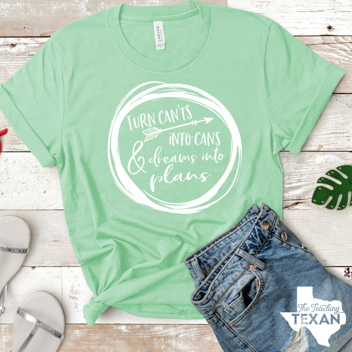 The Teaching Texan T-Shirt Cants into Cans