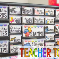 A Fresh and Bright Teacher Toolbox DIY