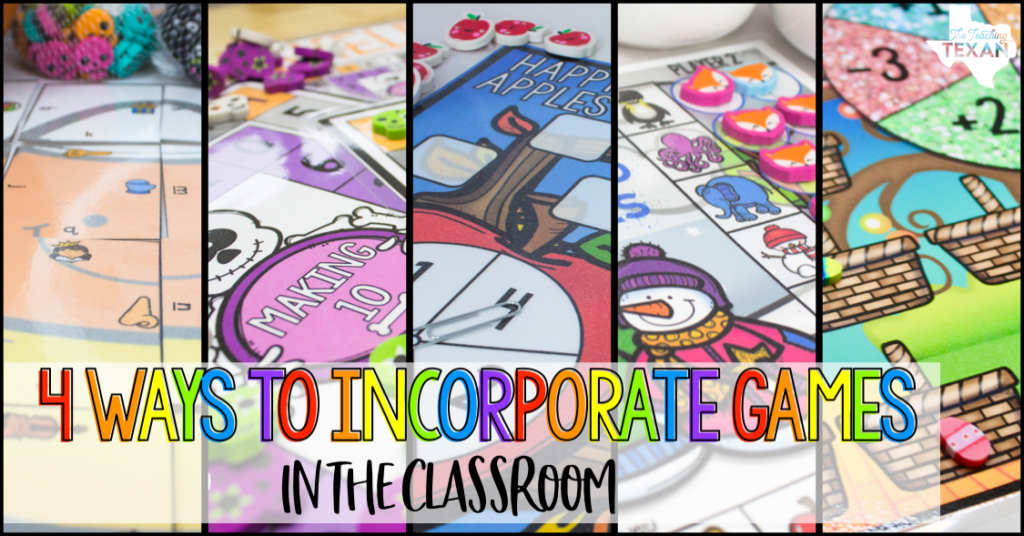 Today I want to share my love of using games in the classroom. The games I use are versatile, fun, and easy for students to learn and learn from!