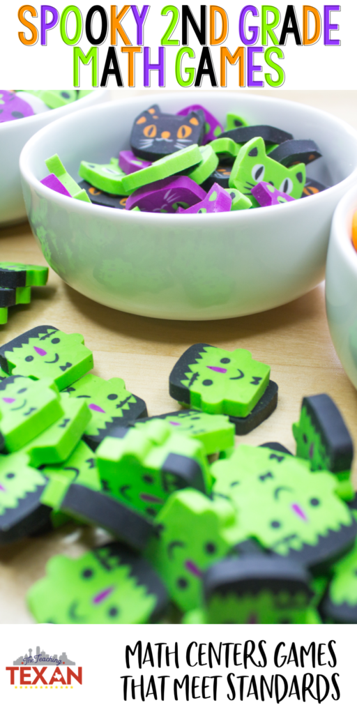 Hands on is minds on! These Halloween math games are so fun for 2nd Grade students in work stations, centers, or review activities.
