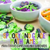 Halloween Math Center Games Second Grade The Teaching Texan Preview