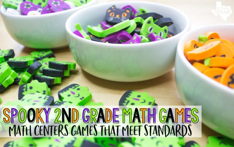 Halloween Math Center Games Second Grade The Teaching Texan Slider