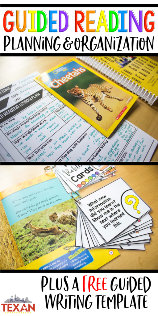 Guided reading planning does not have to be so overwhelming! While we want the best for our students during this critical literacy instructional time, it can quickly become daunting to plan small group lessons. On this blog post I share quick tips for getting the most out of this time while shortening your prep time! Plus, grab a FREE guided writing template!