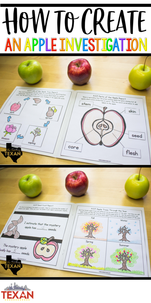 Fall is the perfect time for an apple investigation!  I love integrated units combining math, science, and hands on learning!  This apple unit is perfect for Kindergarten and First Grade students as they explore the world around them, use math to solve real world problems, and get their hands messy with science experiments!
