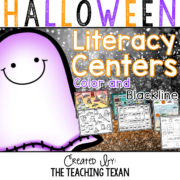 Halloween Literacy Center Games Kindergarten The Teaching Texan