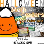 Halloween Math Center Games Kindergarten The Teaching Texan