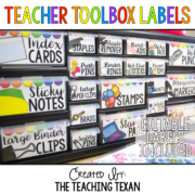 Teacher Toolbox Labels 8x8