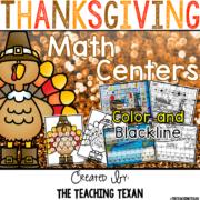 Thanksgiving Math Games Kindergarten The Teaching Texan