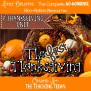 The First Thanksgiving Unit Kindergarten The Teaching Texan