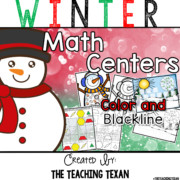Winter Math Games Kindergarten The Teaching Texan